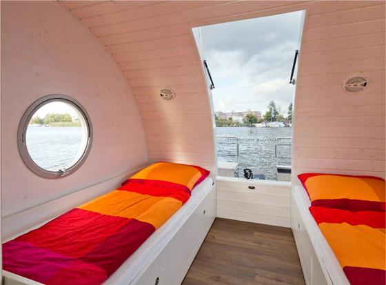 tilted boat portholes